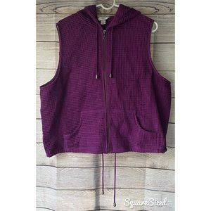 CJ Banks NWT Purple Hoodie Vest Zip-up w/ pockets